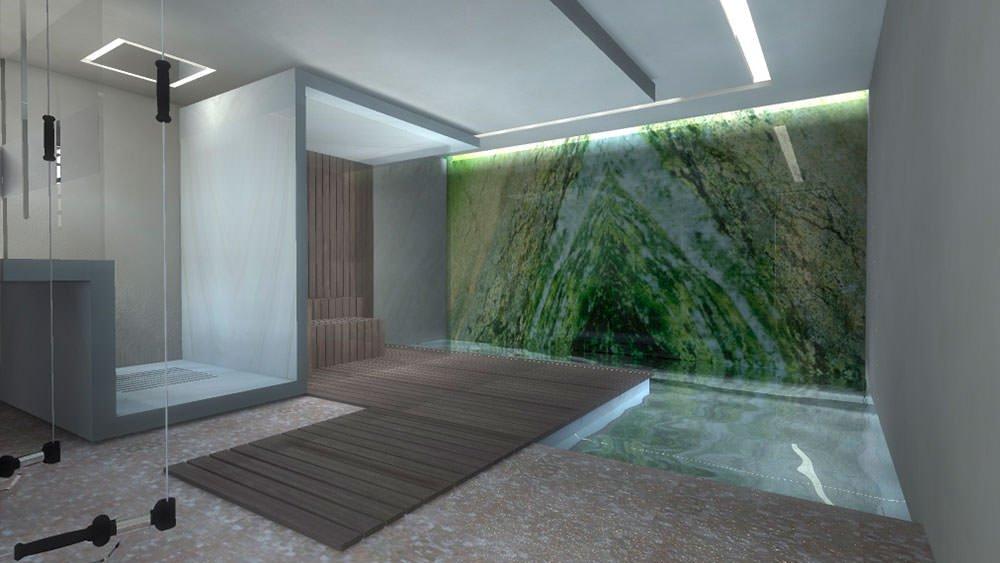 Sauna Appartamento privato Zurigo - Andrea Laudini Design